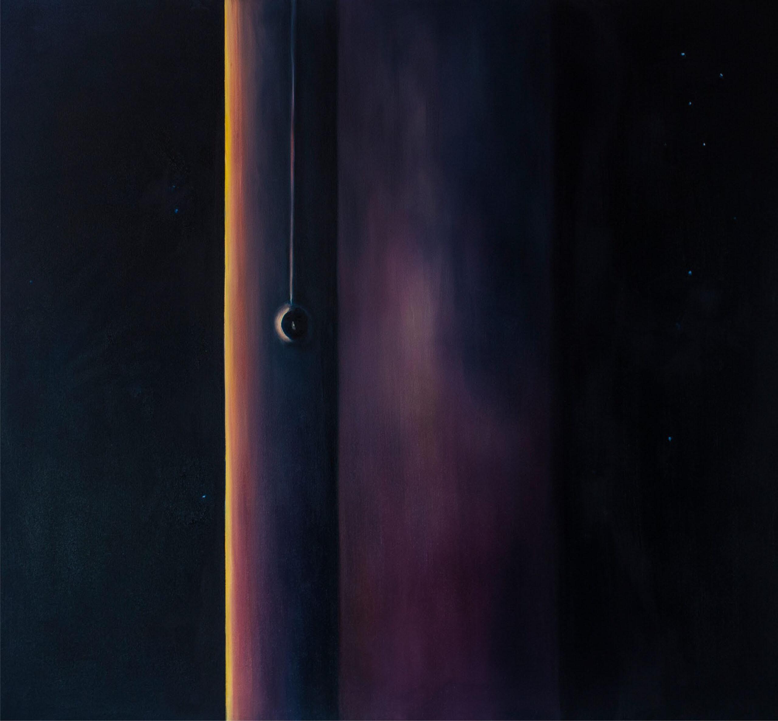Avaruuden kulma, 2018 öljyväri kankaalle,140x130 cm