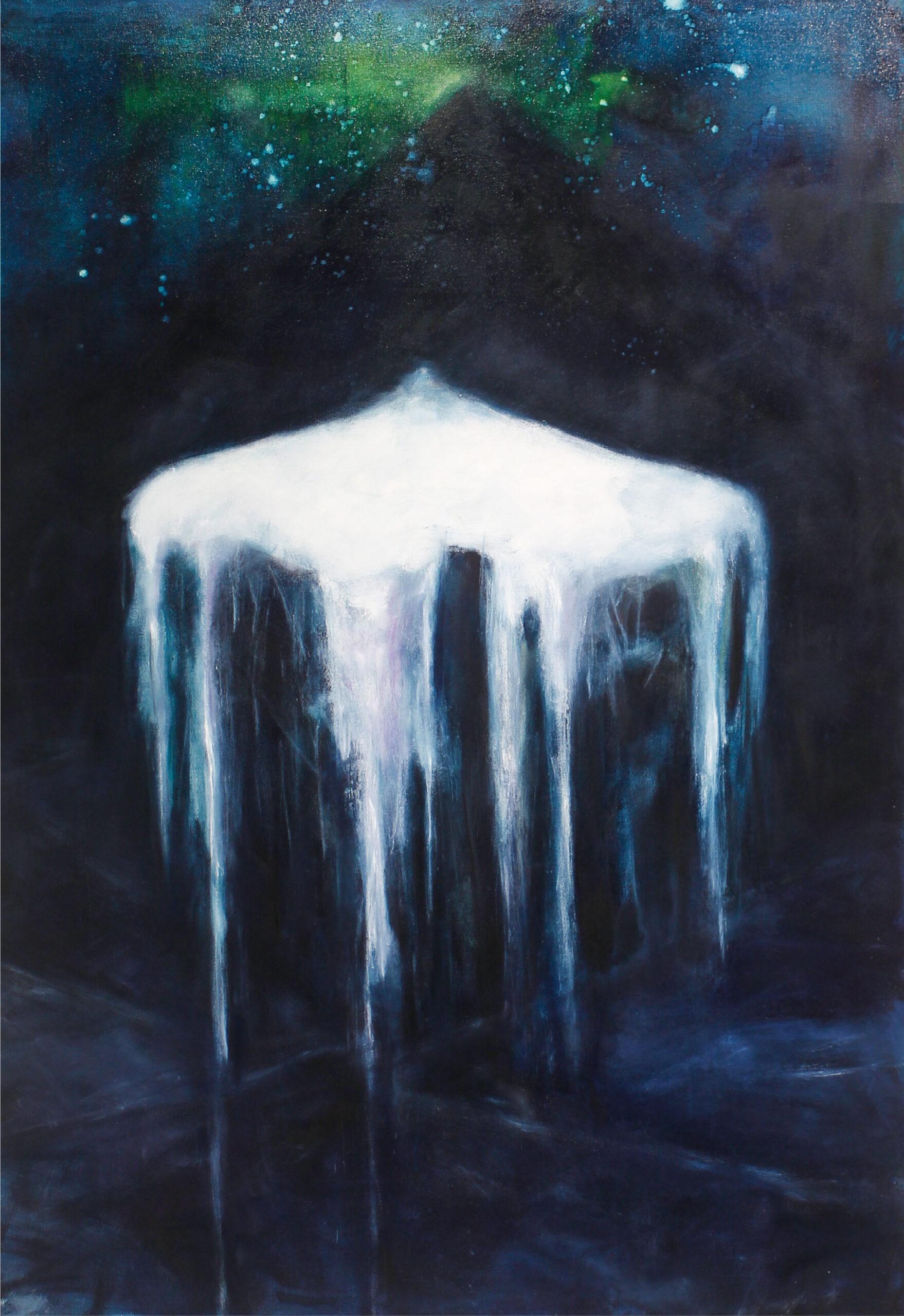 Musta jää, 2019 öljyväri kankaalle,100x145 cm