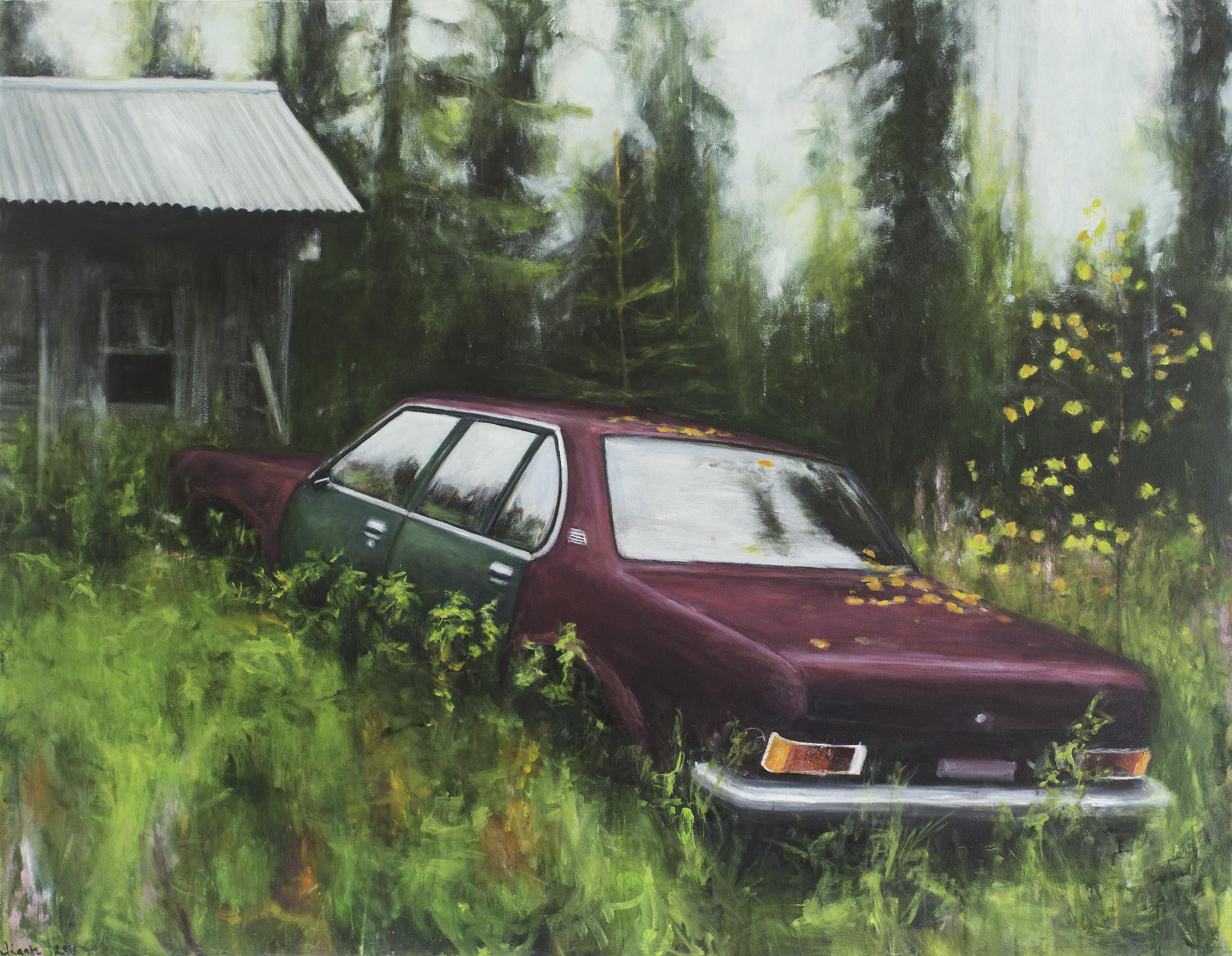 Opel Record III, 2021, öljyväri kankaalle, 105x135 cm